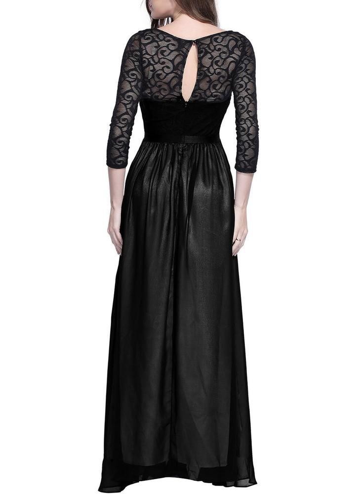 Роскошное длинное вечернее платье miusol, гипюровый верх, р.s фото №3