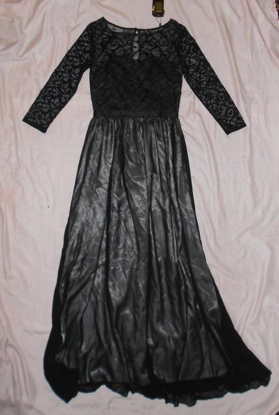 Роскошное длинное вечернее платье miusol, гипюровый верх, р.s фото №5