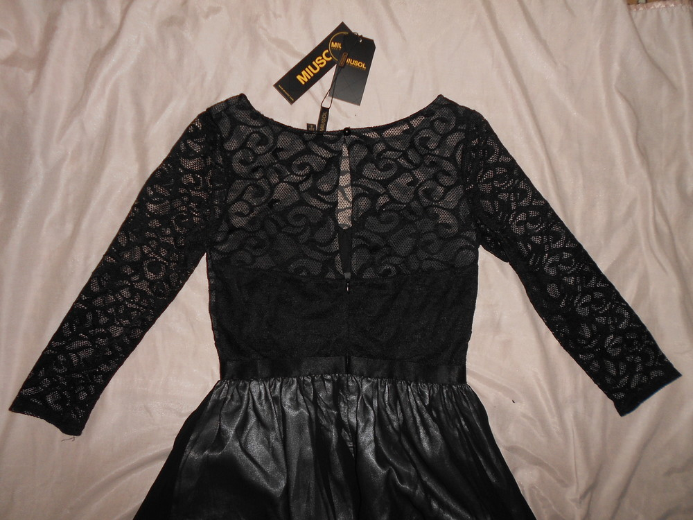 Роскошное длинное вечернее платье miusol, гипюровый верх, р.s фото №9