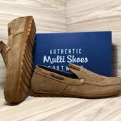 Мокасины мужские с перфорацией Multi-Shoes Perforation