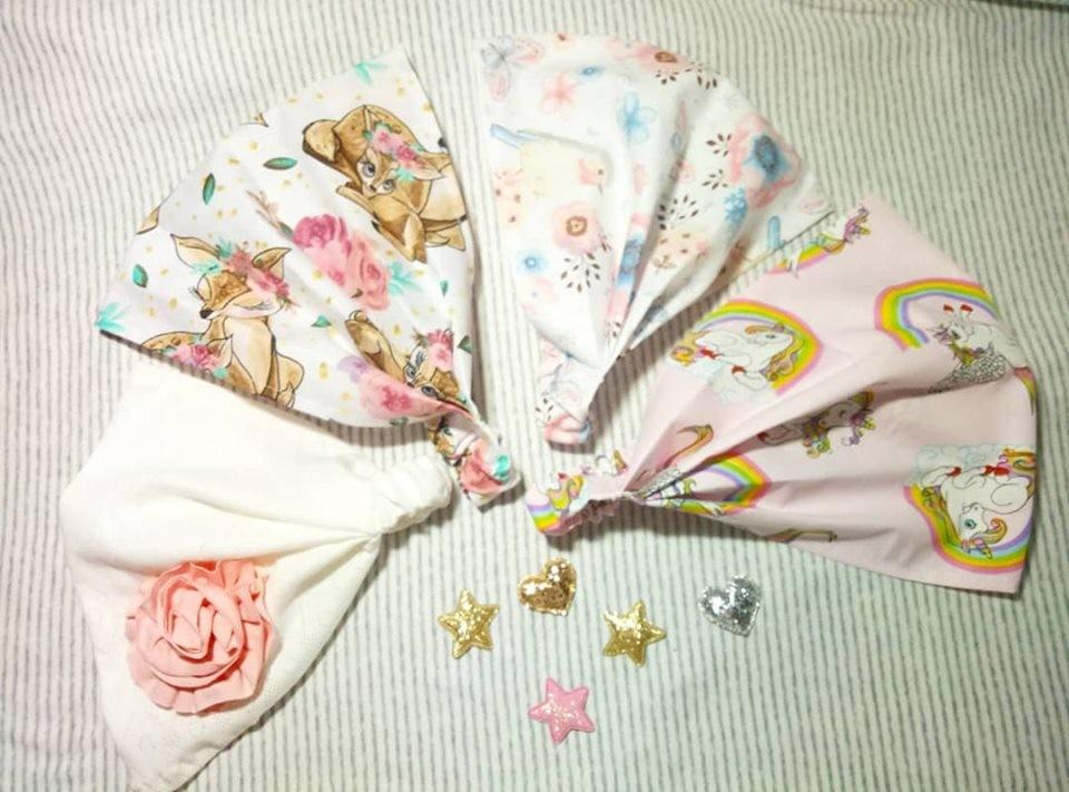 Косыночка бандана на резинке,большой выбор расцветок на любой возраст фото №1