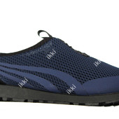 Кроссовки - слипоны для мужчин синего цвета (ПР-3301с)