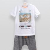 Бемби, Стильный летний комплект бриджи и футболка