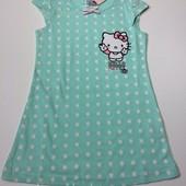 Ночная рубашка, ночнушка Hello Kitty на девочку 1-2 года, рост 86-92