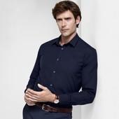 Модная мужская рубашка L ворот 41-42 Tchibo Германия смотрите замеры