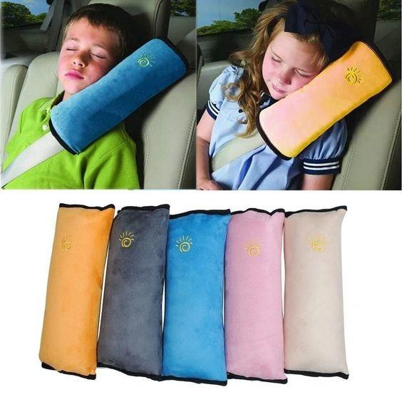 Мягкая накладка подушка на ремень безопасности seatbelt pillow. фото №1