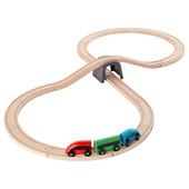 Железная дорога, набор, 20 предмета, разноцветный 003.200.54 Lillabo, Лиллабу Икеа Ikea В наличии