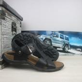 Мужские кожанные сандалии StepWey black