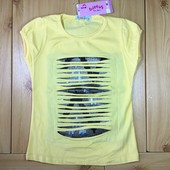 Стильная футболка для девочки рр. 110-128 детская Beebaby (Бибеби)