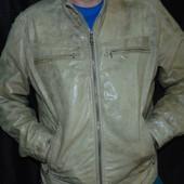 Стильная кожаная брендовая курточка Германия Angelo Litrico .л .