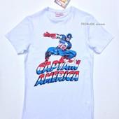 """Мужская футболка """"Капитан Америка"""" Primark.  Читать описание!"""