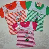 B.S.T (Би-эс-ти) летняя футболка для девочки хлопок