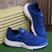 Стильные мужские кроссовки синего цвета