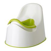 Горшок детский белый/зеленый, Локкиг Lockig 601.931.28 Икеа Ikea