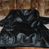 Дешёвая мужская кожаная куртка.