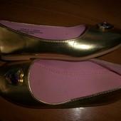 балетки 32 размер H&M НМ золото