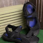 Лёгкие удобные мужские сандалии черного цвета