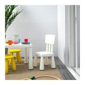 Детский стул, д/дома/улицы, белый  Икеа Маммут, 403.653.71 Ikea Mammut В наличии!