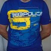 Стильная брендовая футболка Police (Полис).л.