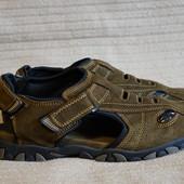 Темно-коричневые закрытые замшевые сандалии Scarpe Hanson fashion shoes 45 р.