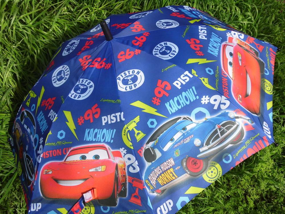 Яркий бомбезный зонт трость тачки для мальчиков 4-8 лет  качество ! фото №1