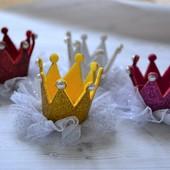 Корона на голову  детская на заколке 4 вида