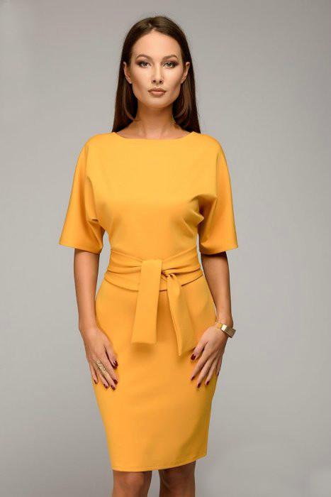 Стильное платье рукав-летучая мышь (40-52рр) с поясом фото №1