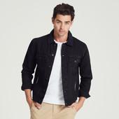 Черная джинсовая куртка фирмы adam levine из сша. Размеры M, L, XL