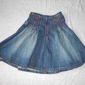 M-XL, поб 48-52, роскошная джинсовая юбка миди George