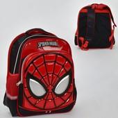 Рюкзак школьный N 00209 Спайдермен 2 кармана, спинка ортопедическая
