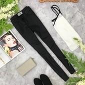 Черные джинсы с напылением  PN1821101