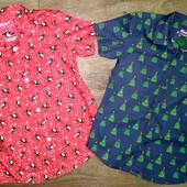 Рубашка новогодняя хлопок Rebel на 5-6лет(110-116см)!