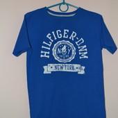 Синяя хлопковая футболка Tommy Hilfiger. (оригинал). Размер S-М.