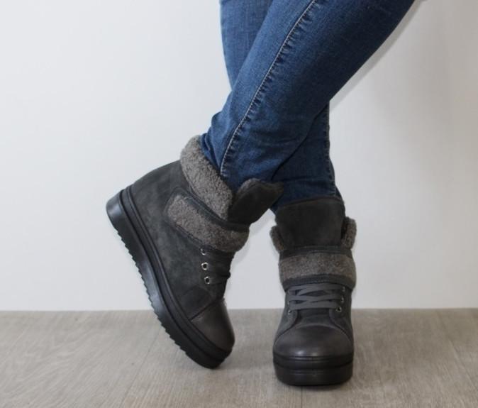 Зимние ботинки с меховой опушкой 37.39.40р фото №1