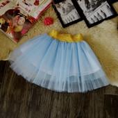 Нарядная фатиновая голубая юбка Five Stars U0115-122p