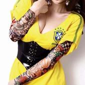 Тату рукав, татуировка Fake Tattoo Имитация тату!