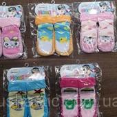 Пинетки-носочки махровые для девочек р.19-22, 23-26 (Венгрия)