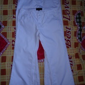 Брюки джинсовые белые мужские р.40