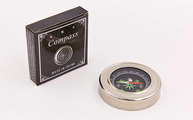 Компас магнитный dc60: диаметр 60мм (металл, пластик) фото №1