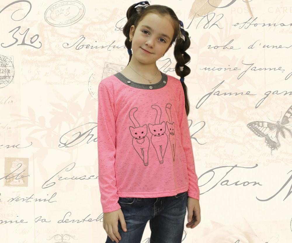 Блуза для девочек+вышивка, кулир хырчиллы фото №1
