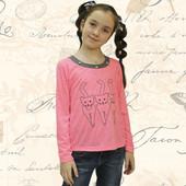 Блуза для девочек+вышивка, кулир хырчиллы