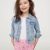 Шорты для девочки H&M розовые бабочки