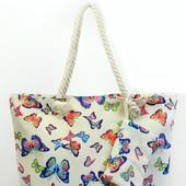 Пляжные сумки с косметичками, новый сезон лето 2018