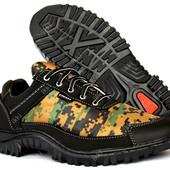 Мужские камуфляжные кроссовки на протекторной подошве (Кз-16зн)
