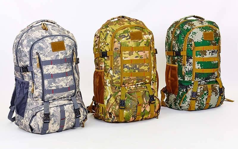 Рюкзак туристический бескаркасный 0868 (рюкзак тактический): объем 40 литров, 52х26х15см (3 цвета) фото №1