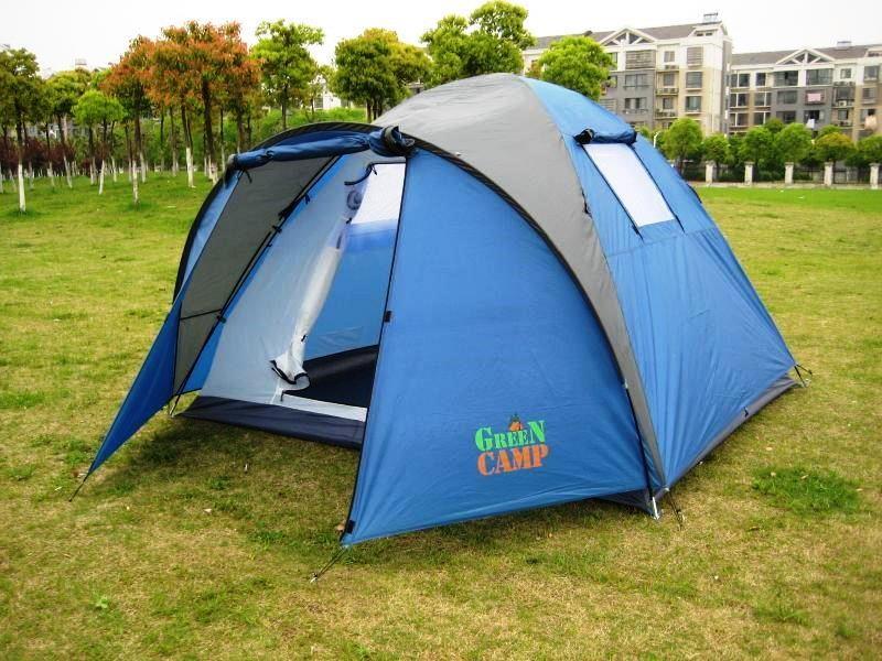 Палатка четырехместная Green Camp 1004 - 3,35х2,5х1,8 м. фото №1