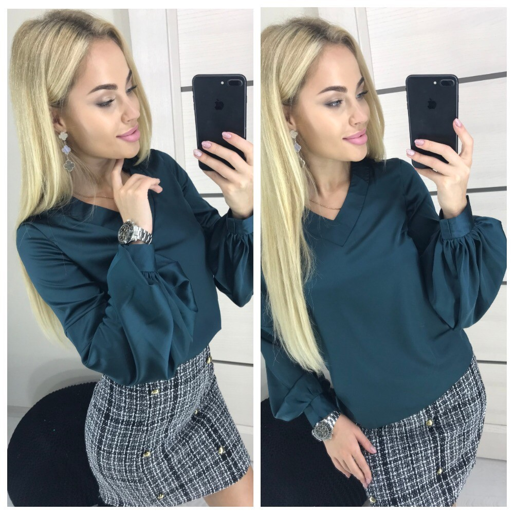 Женская шёлковая блуза фото №1
