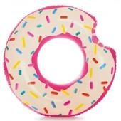 Надувной круг для плавания пончик Intex 56265: размер 107х99см