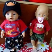 Костюмы на кукол беби берн.