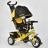 Велосипед 6588 - 1790 Best Trike желтый, колесо пена, переднее d 25см. задние d 20см